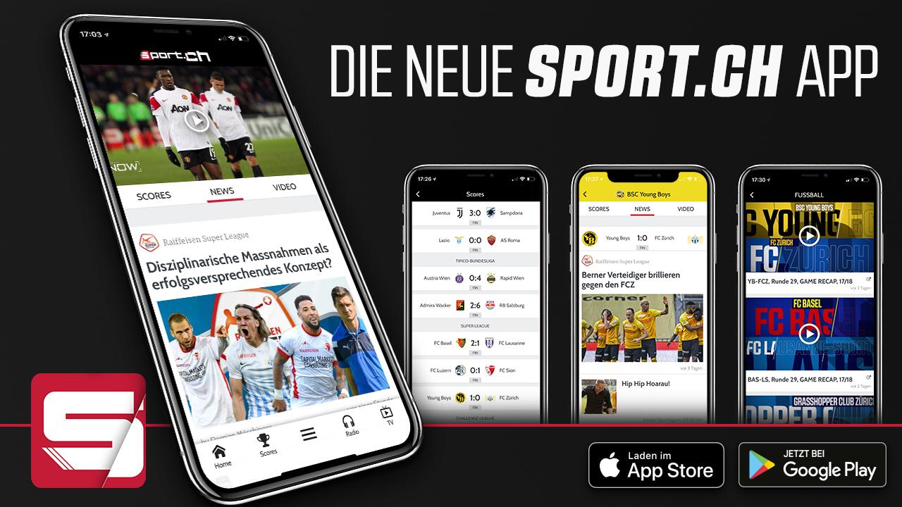 Die Sport Ch App Fur Android Und Iphone Inkl Scores